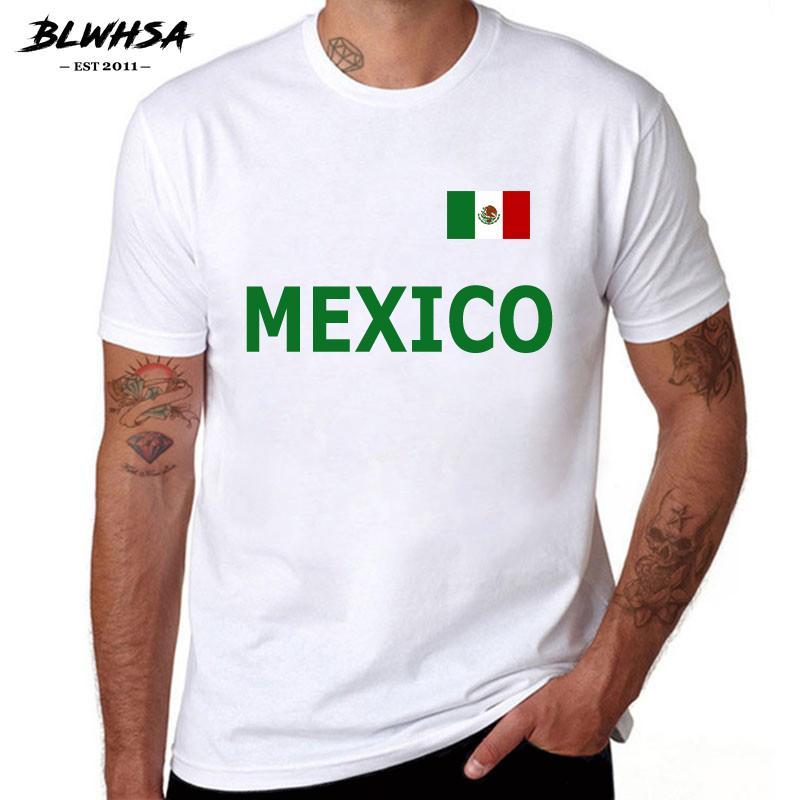 Erkekler TopsTees MEKSİKA Yaz Tişörtlü Erkekler Pamuk Kısa Kollu Tişört Homme MEKSİKA Hayranları Cheer Tshirts