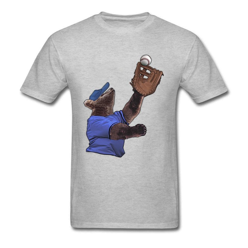 Baseball-Bär Fielder Straße Tops Shirt Kurzarm für Männer aus 100% Baumwolle Sommer O-Ansatz T-Shirts einfache Art-T-Shirts Neueste
