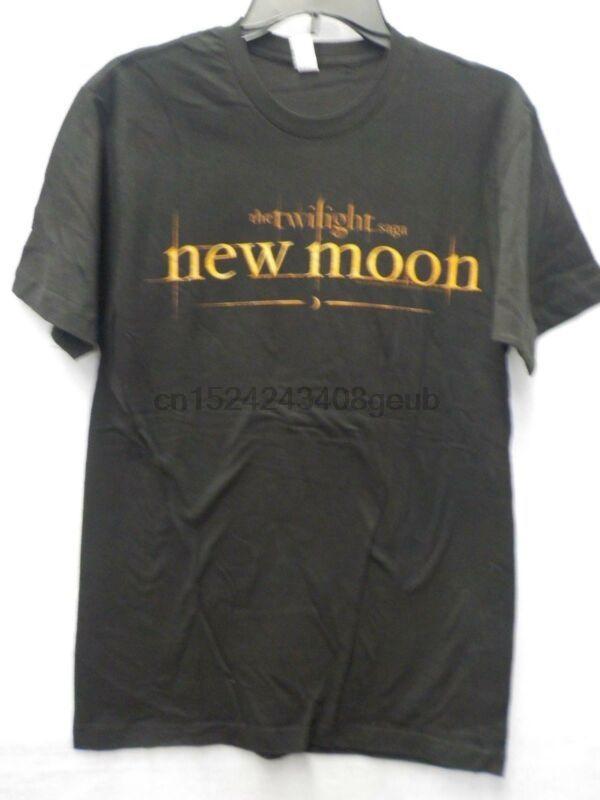 Mens Saga Crepúsculo Luna Nueva 20.11.09 Negro gráfico camiseta nuevo # 13169v