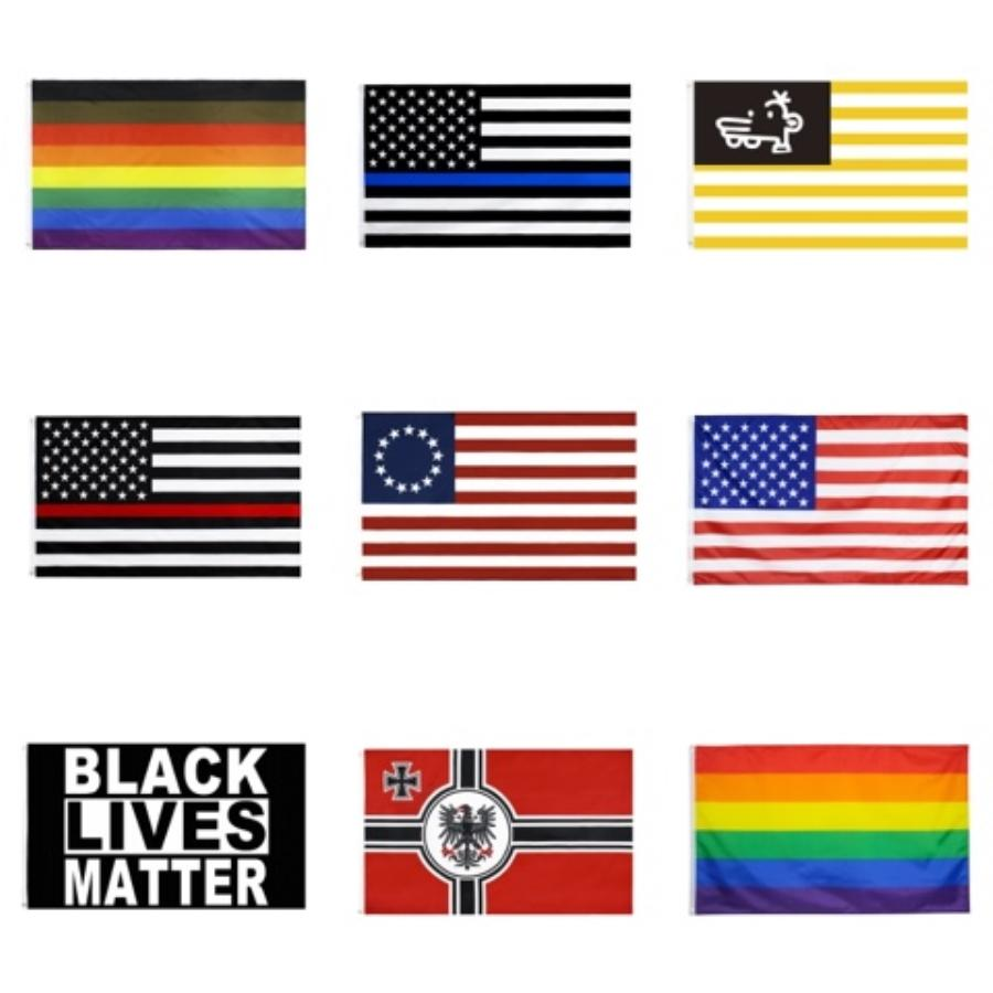 Trump Flag 90*150Cm Biden USA Flag Keep America Great President Donald Trump Election Banner Flags LJJO7926#651