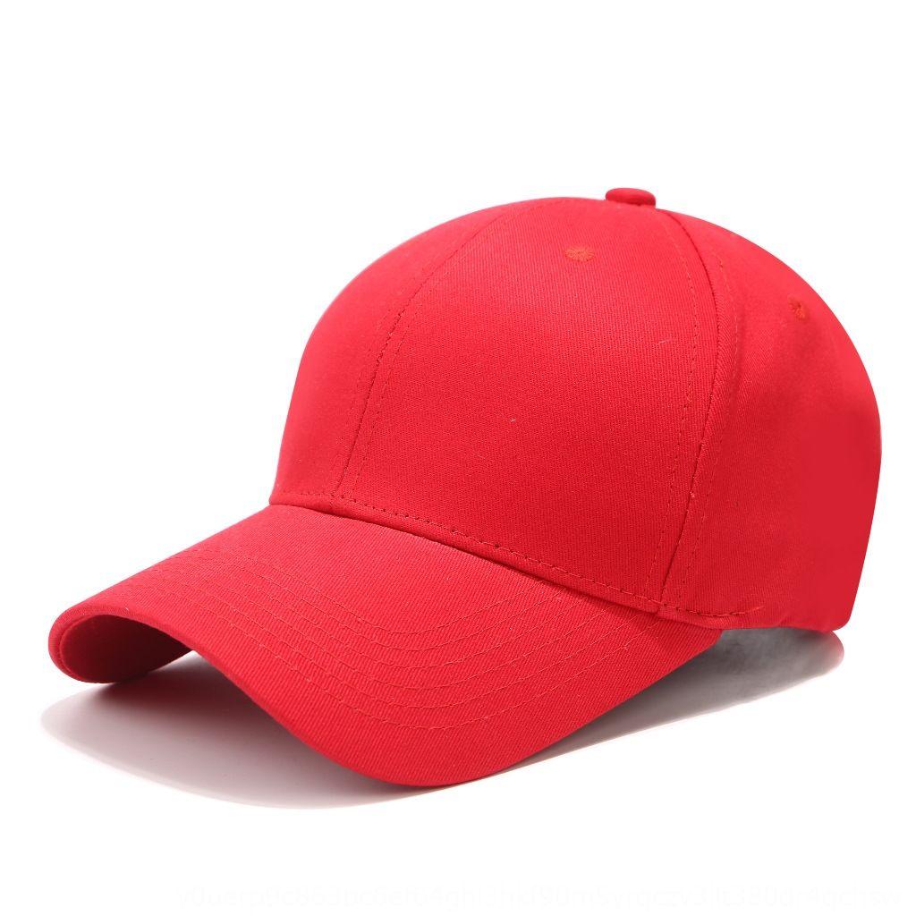 Pur et hommes de coton Pointu Baseball couleur pure des femmes casquette de baseball a atteint un sommet de chapeau de style coréen brodé chapeau de soleil brillant