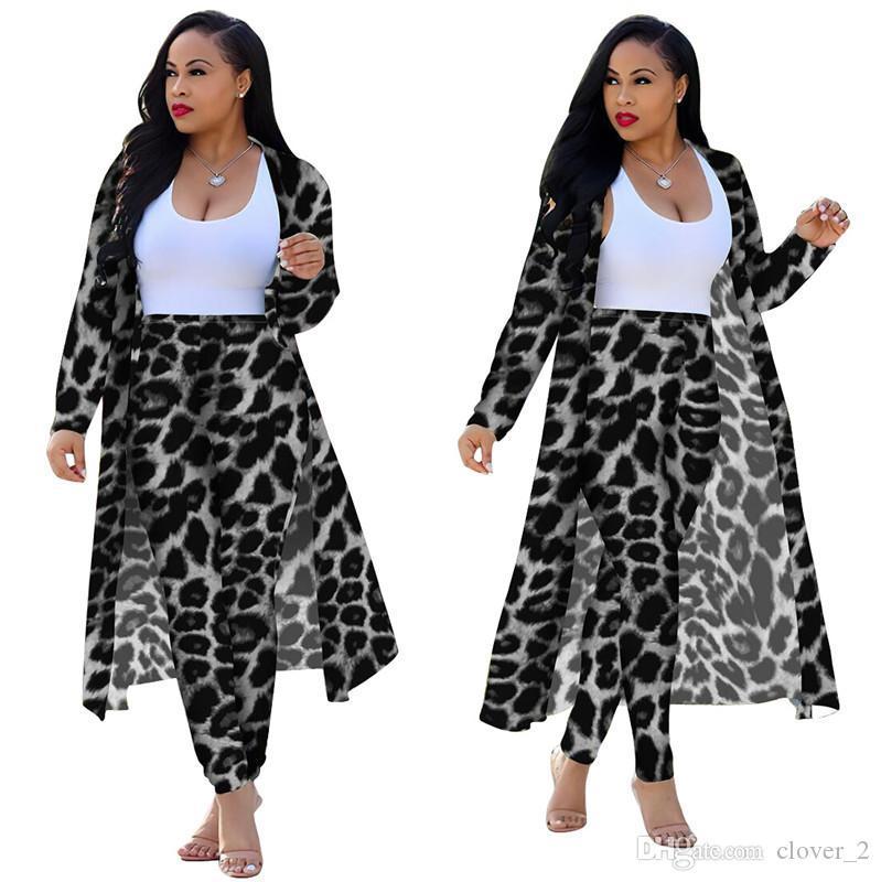 moda pelerin gündelik kadın giysi 2 parçalı set klw2490 düşmek eşofman Kadınlar büyük beden uzun gömlek hırka + pantolon
