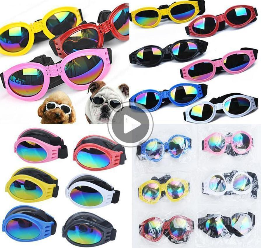 Dog Glasses Fasion Foldale Sunglasses Medium Large Dog Glasses ig Pet Waterproof Eyewear Protection Goggles UV Sunglasses dc570 Mandy