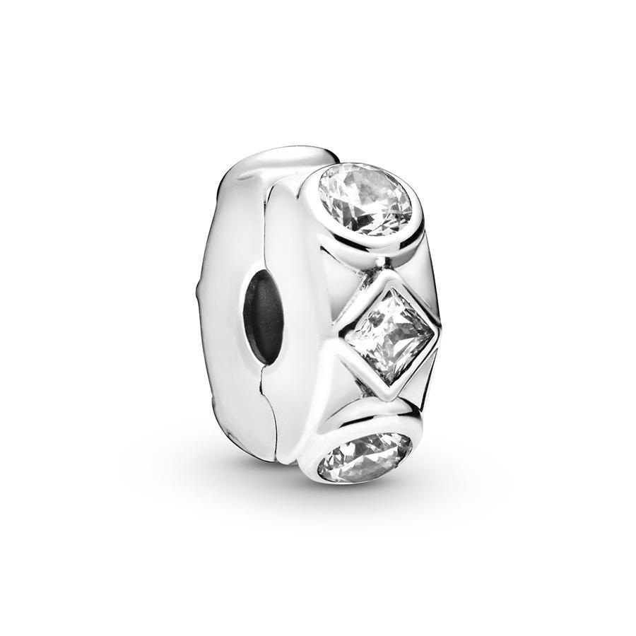 ALE Auténtico original 100% 925 encantos de clip de plata esterlina formas geométricas pulseras estilo Pandora cabidas los granos de la joyería DIY Diseño Making