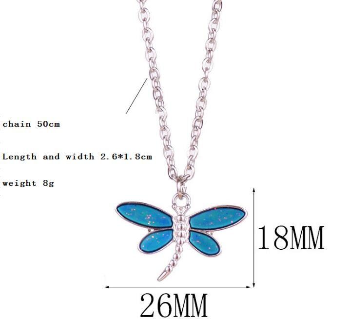 Паого ожерелье кулона настроения чан цвет ВС луна и звезда бабочка ожерелье персонализированный кулон из нержавеющей стали ожерелья цепи