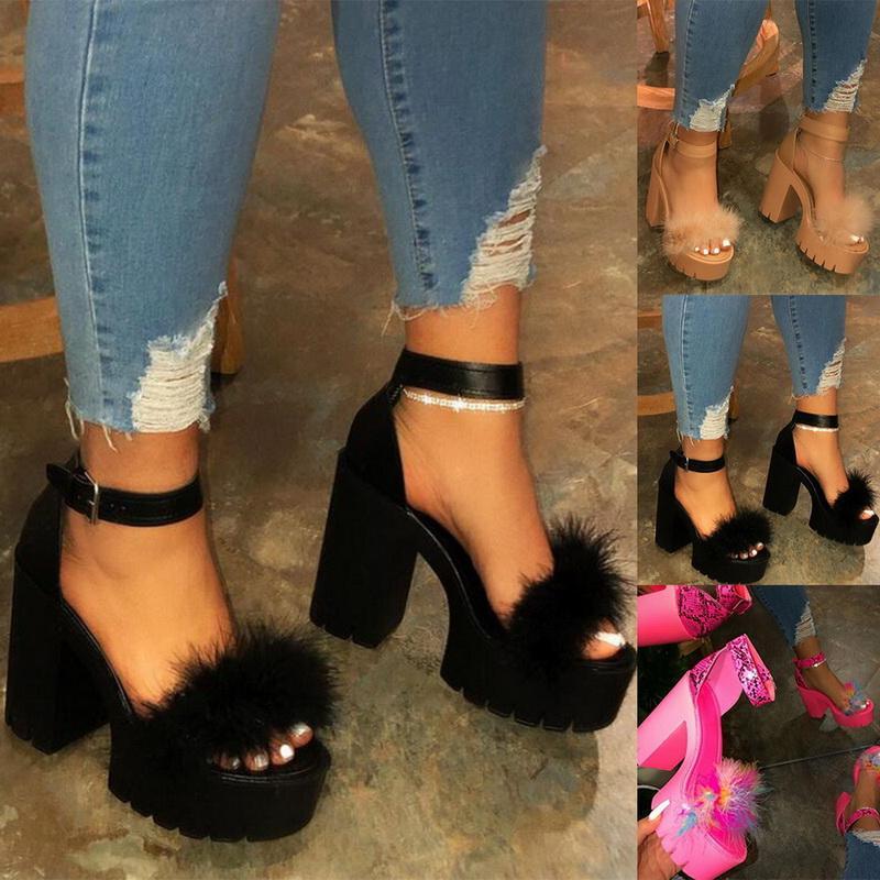 2020 New Verão grossas sandálias plataforma inferior para as mulheres grossas com sandálias Cunhas Sapatos Para Mulher Femme sapatos de salto alto