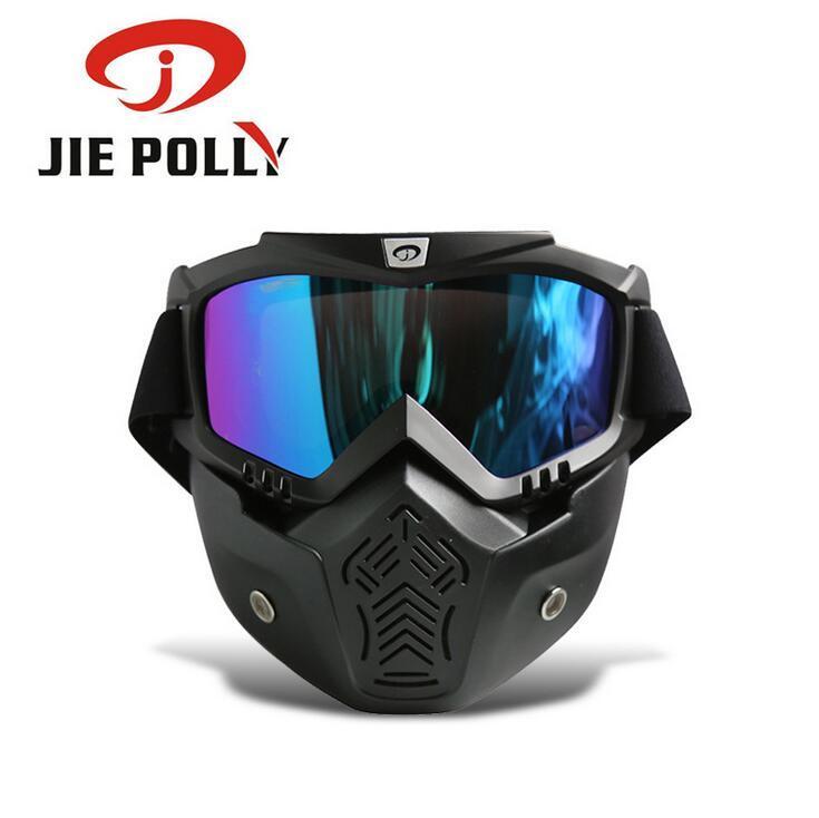 Hombres Mujeres gafas de esquí snowboard gafas de motos de nieve desmontable Máscara Ciclismo Montaña de la nieve Invierno Esquí de montaña Gafas de sol de motocross