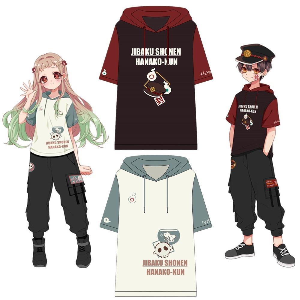 2020 Japonya Anime Tuvalet-Bağlı Hanako-kun Yugi Amane Nene Yashiro Cosplay Kostüm Kısa Kollu Unisex Hoodie tişört