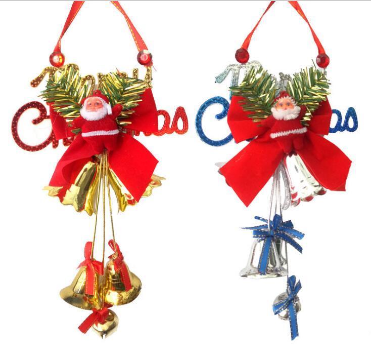Decoração de Natal sino de porta pendurado janela janela GB974 decoração pingente