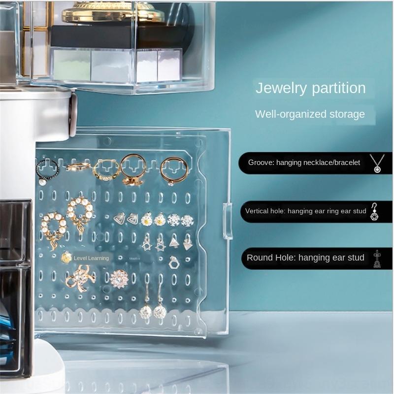 a4xwZ Internet boîte de rangement cosmétiques célébrité soins de la peau LED anti-poussière lumières Boîte de rangement vinaigrette produits Coiffeuse bureau de table je