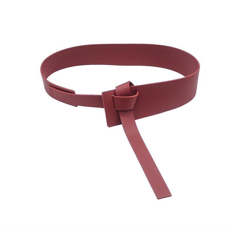 Knot Gürtel Mantel der Frauen breites dekoratives Kleid modisch Allgleiches Gurt der Frauen mit Jackett Kleid Taille Dichtung Tz1wo