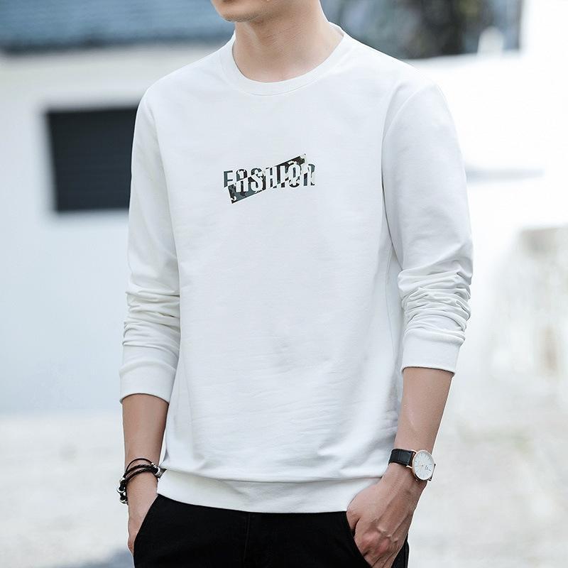 versiyon yaka kadınların taban T-GÖMLEK erkek tişört ter Kore turda yönlü ilkbahar ve sonbahar yeni MEN uzun kollu olarak f5d61 yt8ty