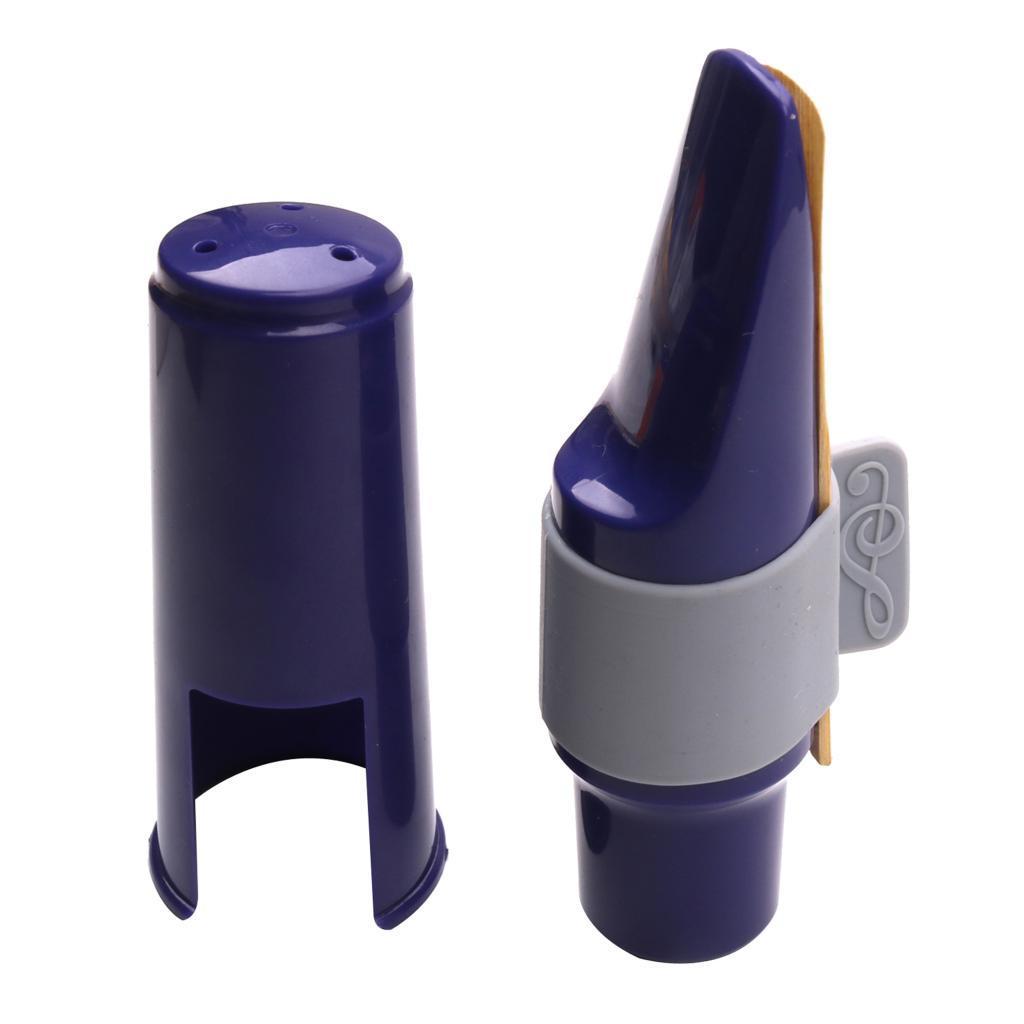 Alto Sax sassofono di plastica Bocchino con fibbia Silicone Cap Reed Kit per Sassofono Sassofono Parts