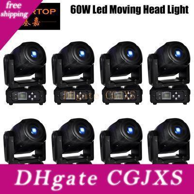 8xlot Mini 60w Led 8 Gobos mit 3 Facetten-Prisma-Effekt Moving Head Licht Dmx 512 60w Moving Heads führt Punkt Dj Bühnenbeleuchtung