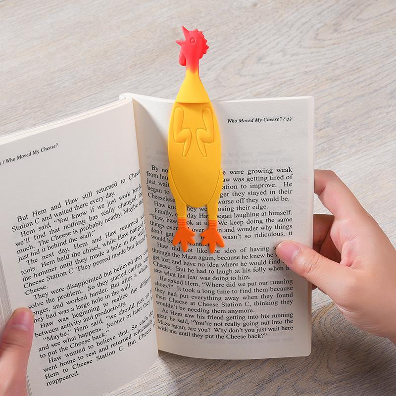 북마크 노란색 비명 치킨 3D 스테레오 원래 귀여운 만화 사랑스러운 동물 재미있는 학생 어린이 편지지 키즈 선물