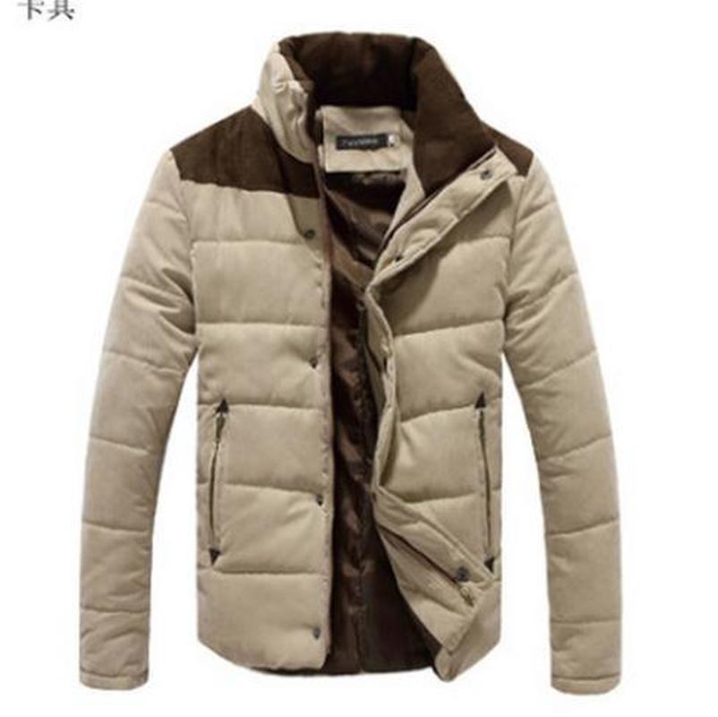 Inverno espessamento de algodão roupas masculinas Brasão de algodão Coats parkas inverno com capuz de Down terno dos homens Windbreaker
