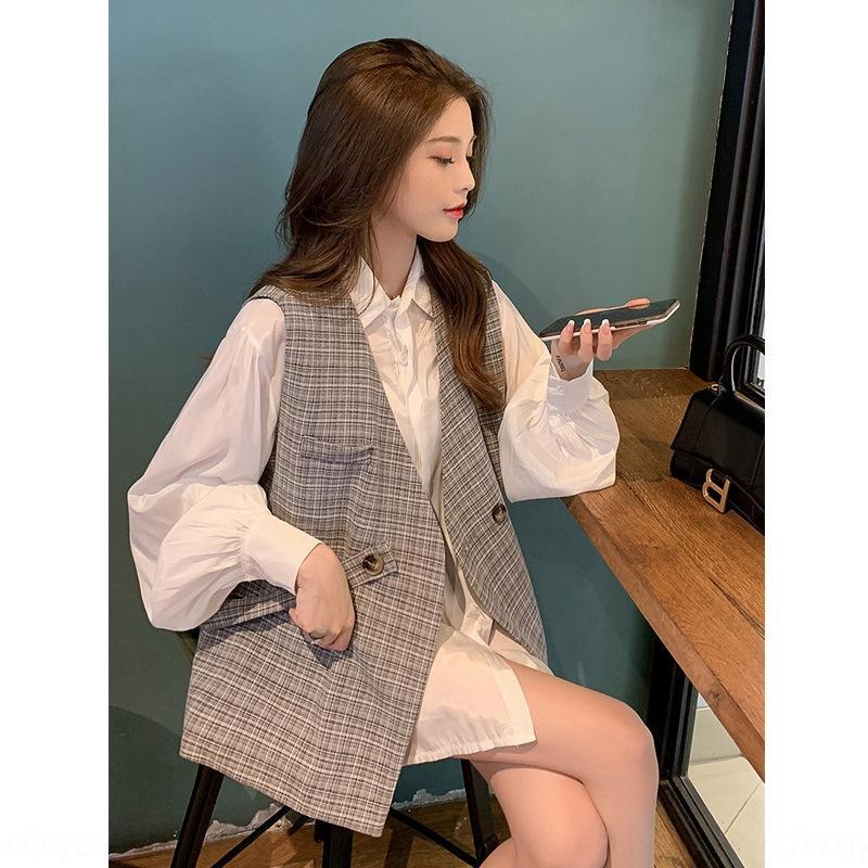 9JKyA GFTa5 elegante real irmã Brasão Vest camisa do fã conjunto de duas peças com comprimento médio manta vermelha Net colete casaco feminino lanterna set camisa de manga