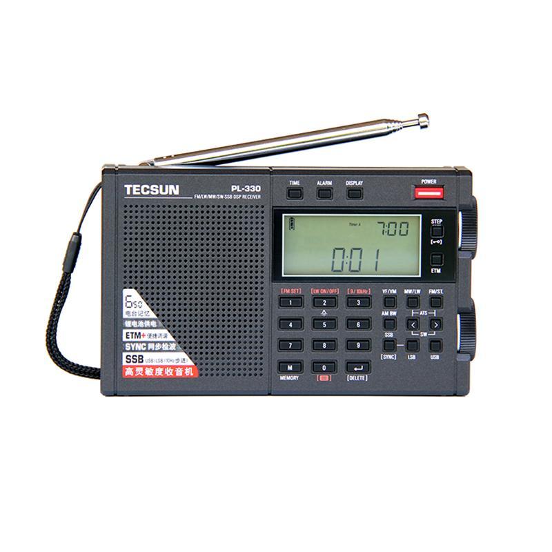Rádio Tecsun PL-330 Portátil Estéreo de Alto Desempenho Digital Tuning Curto Onda - Única SideBand com bateria I3-011