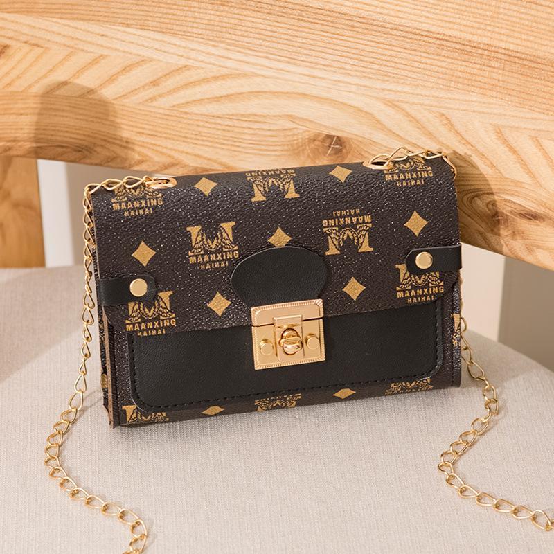 Piccola borsetta quadrata in pelle stampata a catena messenger borse borse a flap crossbody borse leggero designer girls casual spalla a spalla donne borse wmuee