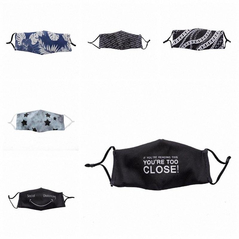 7 Стилей держать дистанцию пылезащитного хлопка маски для лица на открытом воздухе анти тумана многоразовых рта маски для взрослых защитных масок для лица YYA352 DU88 #