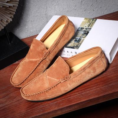 2020 En Yeni Gri Erkek Ayakkabı Slip-Deri Ayakkabı Casual Erkek Yetişkin Deve Renk Sürüş Moccasin Yumuşak Kaymaz loafer'lar