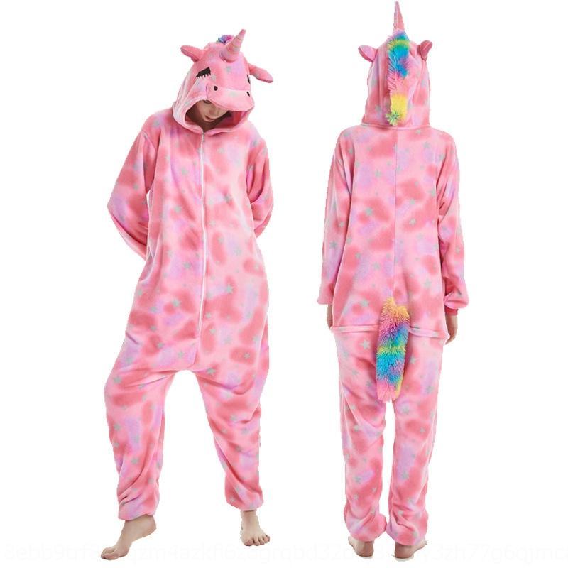 SwK4s ggJr6 мультфильм животных цельных пижамы для взрослых рыбьей чешуи живота Tianma одежды дома мило мебели розовый Tianma одежды утолщенной домой гр