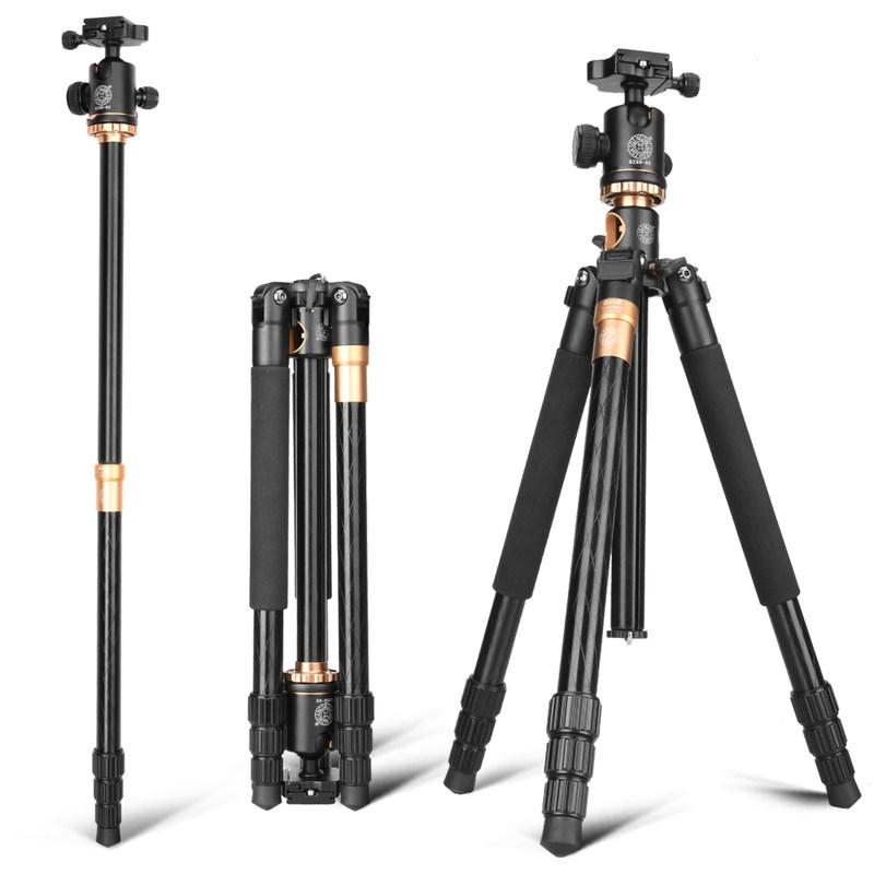 Professional Camera Tripods with Quick Release Plate and Ball Head Aluminium Alloy Video Monopod Extendable Tripod for Canon/Nik