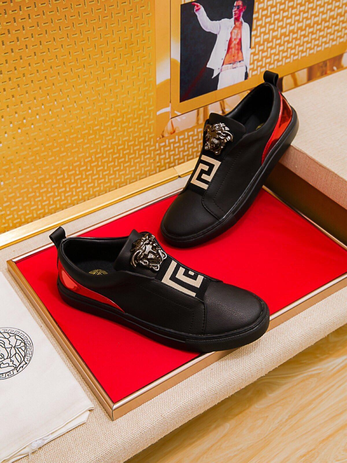 2021y Genç Lüks Tasarım Baskılı Nakış Dikiş Erkekler '; S Düşük -Top Dantel -Up Günlük Ayakkabılar, Yüksek -Kalite Şık Yabani Spor Sh