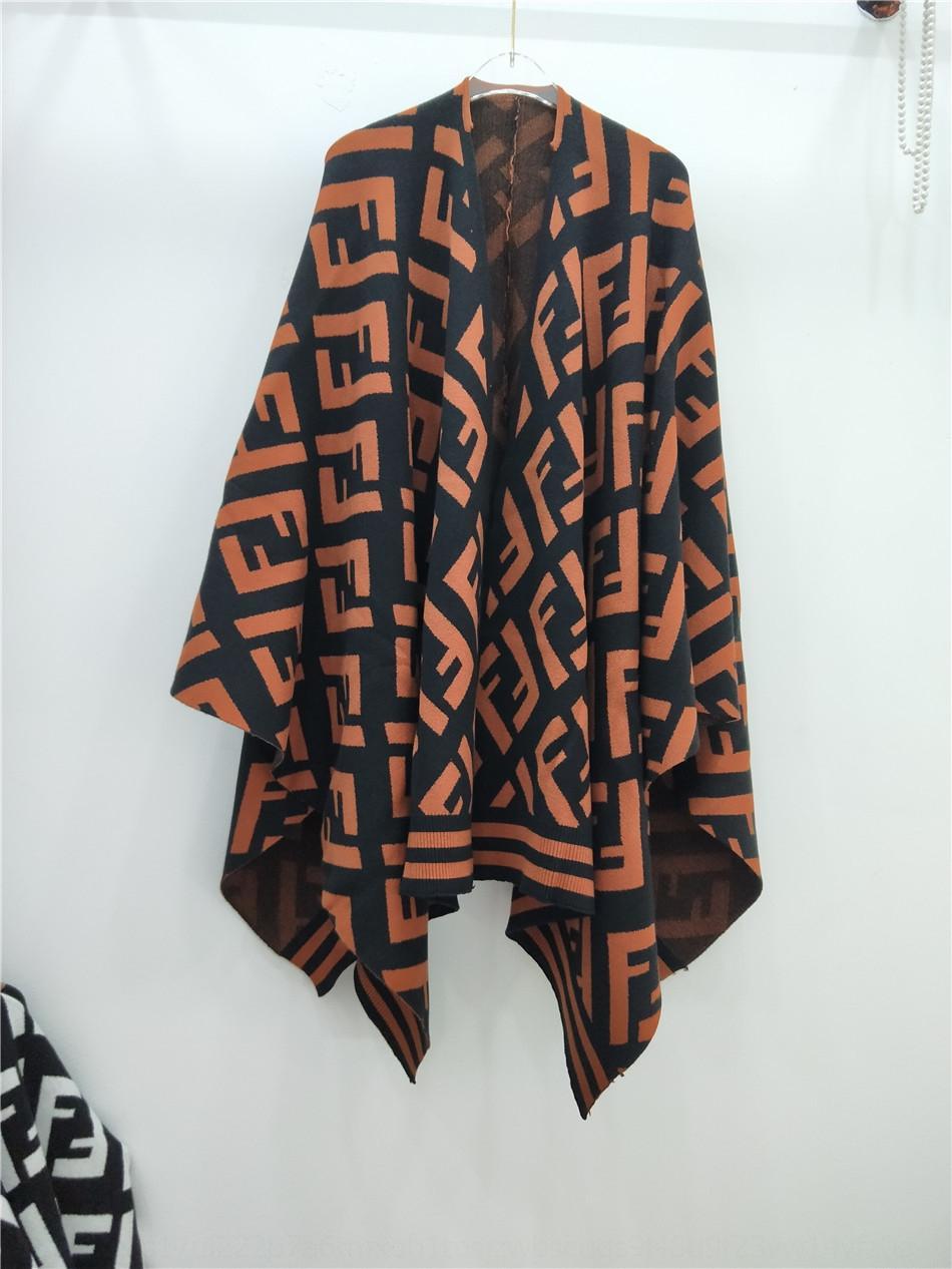 6TZJq GXkFO e qualità F lato collare lato costola di media lunghezza grande le donne della moda abbigliamento 2019 di alta moda inverno autunno scialle sha