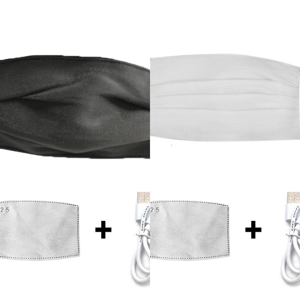Led Parlayan Maskeler Parti Bar Cadılar Bayramı Yeniden kullanılabilir Maske ile Hotcolors Yüz Filtre Aydınlık 7 PM2.5 Maske