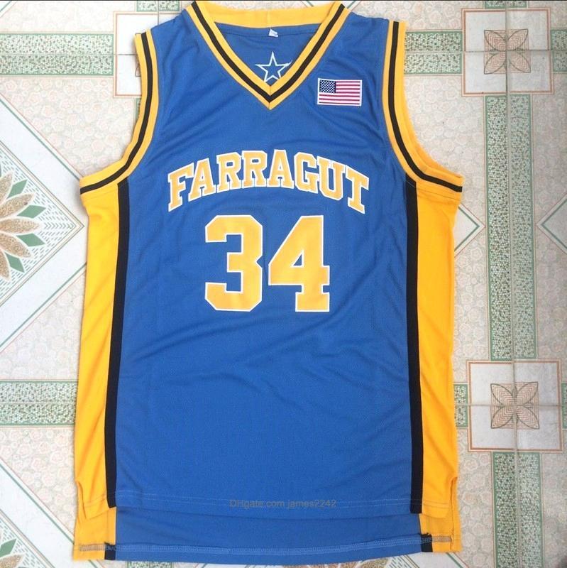 Mens-Highschool 34 Kevin Garnett-Shirt Team Farragut Kevin Garnett Basketball Jerseys Uniform Breath genähtes Basketball Shirts S-XXL