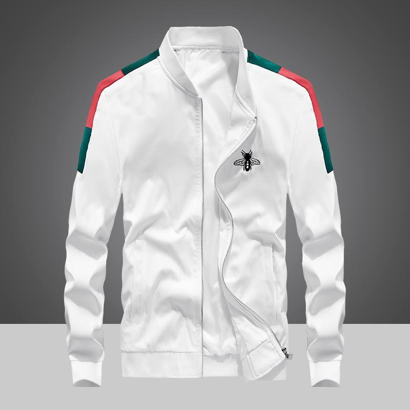 Escudo 20ss impresión de la letra de costura rompevientos hombre, mujer, pareja chaquetas OS Moda abrigo de diseñador de la TAPA del estilo de la chaqueta de lujo de la chaqueta del dril de algodón