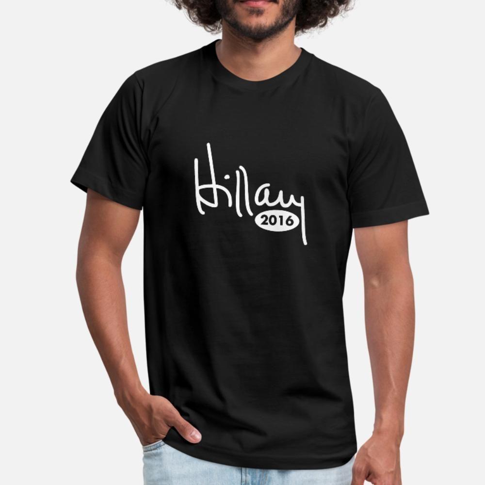 Hillary 2016 hombres de la camiseta 100% algodón diseños de camisa S-3XL de la vendimia Gráfico básico primavera de la novedad