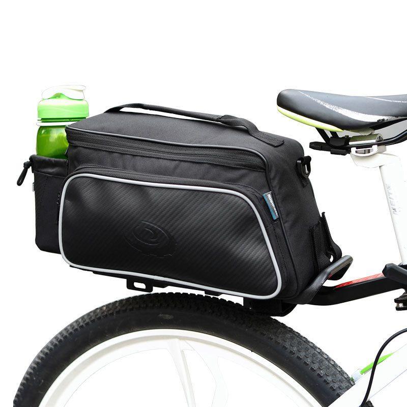 New 10L Roswheel Bicycle Trunk Pannier Bike Rear Carrier Bag Tear-resistant Black Seat Bag Cycling Pouch Handle Bag MX200717