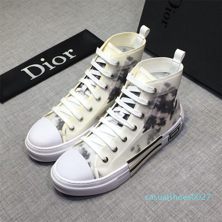 D Moda Yüksek Yardım Sneakers SIZE 38-44 C27 kadar en kaliteli 19ss Yeni Tasarımcılar luxurys Erkek rahat ayakkabı erkekler Dantel