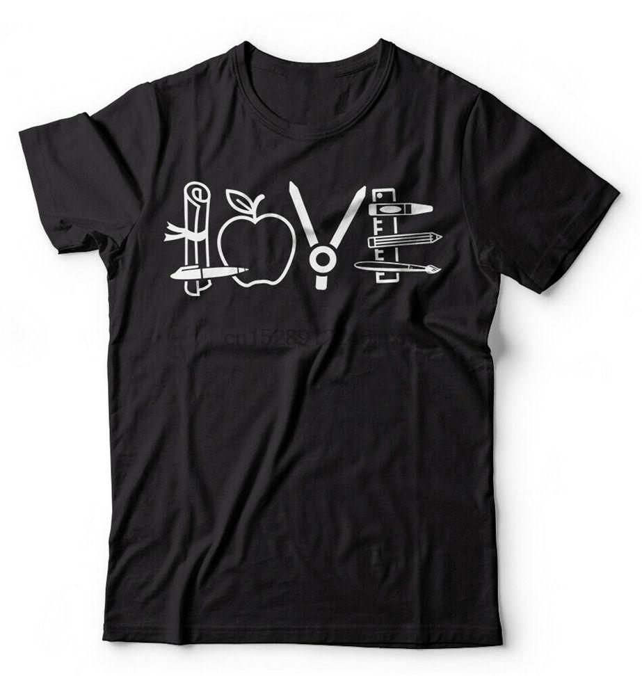 Научите Любовь Преподаватель Образование Школа подарков T-Shirt Лучший учитель Идеи подарков на заказ Специальная печать футболочку