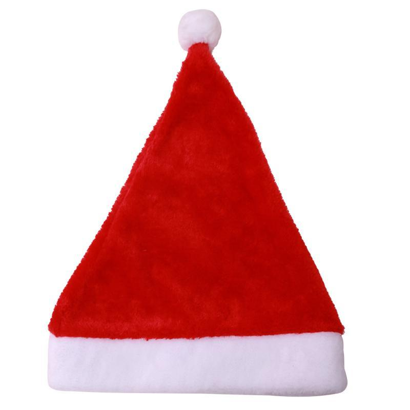 Casquillo de los niños accesorios de Navidad Fiesta de Año Nuevo de alta calidad de la Navidad Sombrero Adulto Adornos Decoraciones para el hogar sombreros de Santa