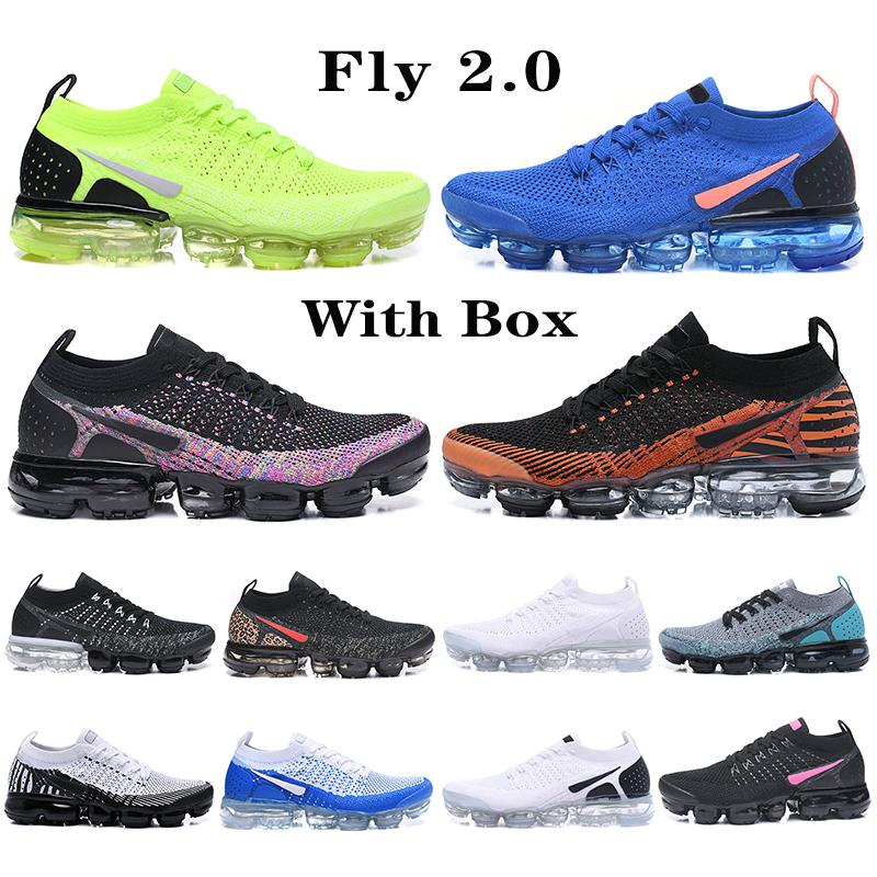 TOP Quality 2020 Fly 2.0 Running Shoes Knit orca Triple Black Multi-Color CNY Pure Platinu White Dusty Cactus midnight Men Women Sneaker