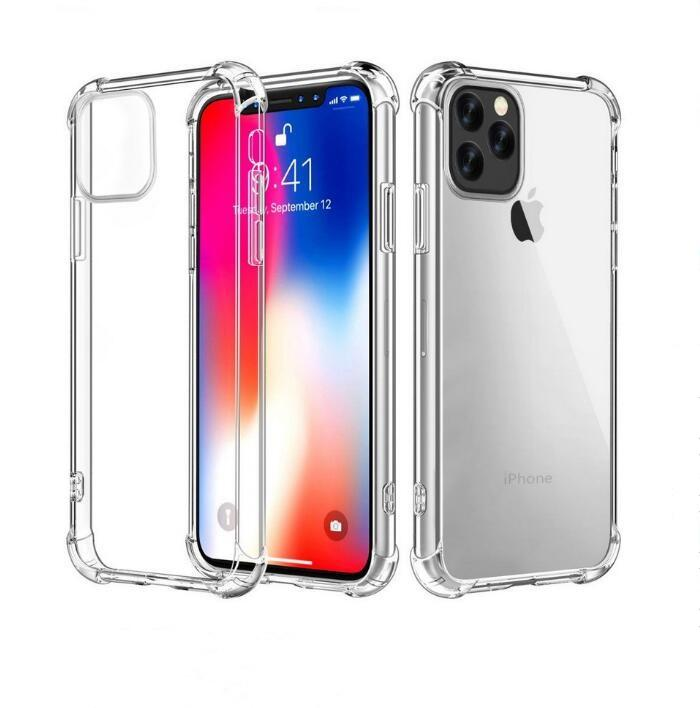 Transparent Phone Case Anti-knock TPU Protective Shockproof Silicone Clear Cover Case for Iphone for iPhone 11 Pro MAX XS XR 8 7 6 Plus