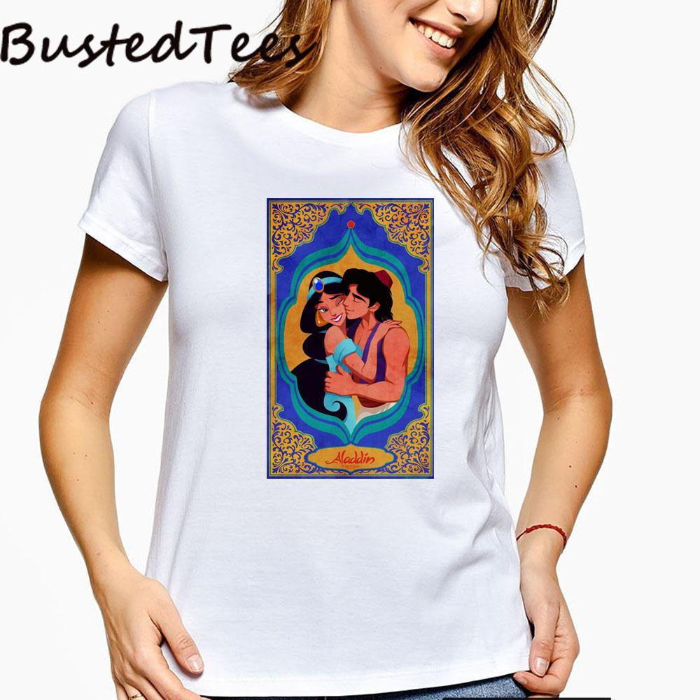 BUSTED 2019 neue Ankunfts-90s Girl Print Tops Vintage-Baumwolle Comfortable T-Shirt-Sommer-Kleidung für Frauen