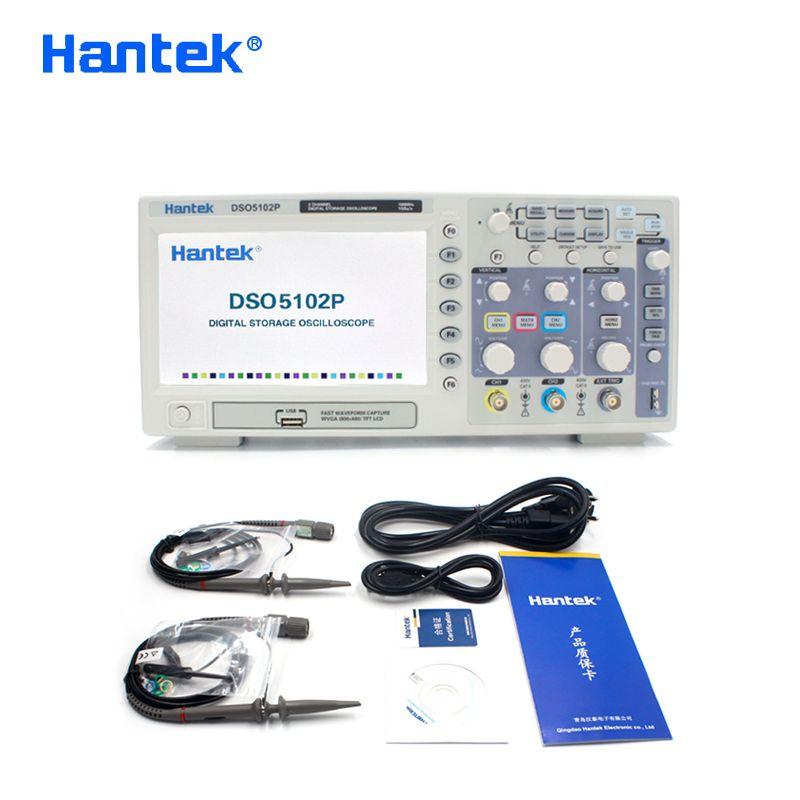 Hantek DSO5102P Цифровой осциллограф Портативный USB Osciloscopio Handheld Осциллографы 2 канала 100МГц 1GSa / с 40K