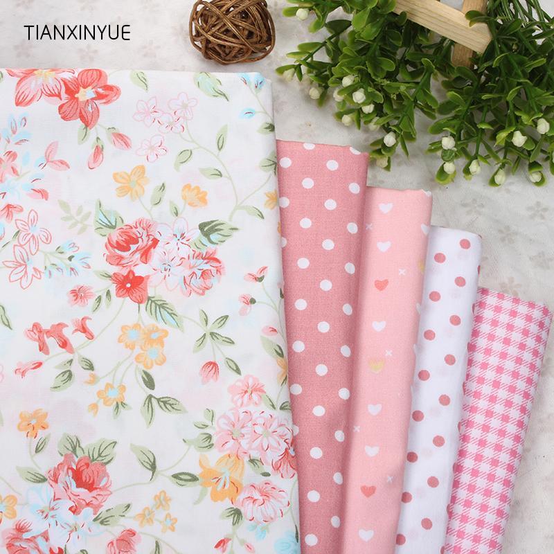 5pcs 40cm * 50cm Manual de tela de tela naranja flor de tela de algodón para el amortiguador remiendo de costura Telas Tejidos remiendo de tela