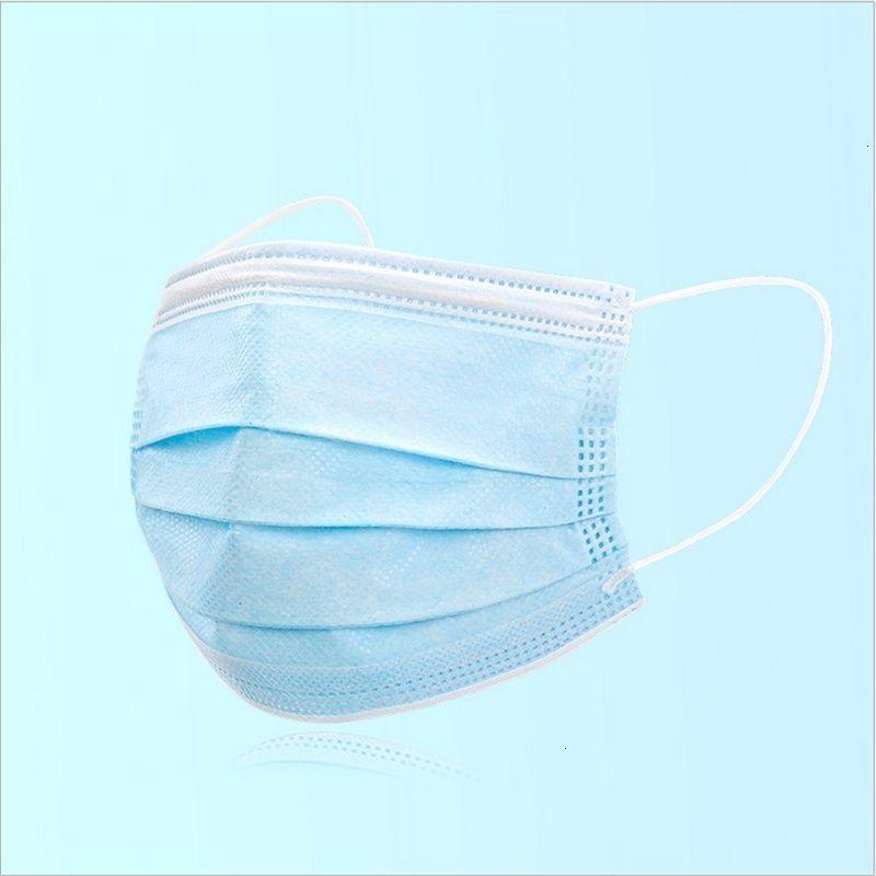 50 piezas desechables mascarilla de 3 capas máscaras protectoras no quirúrgicos cubierta del protector de tela fundida por soplado boca 50pcs