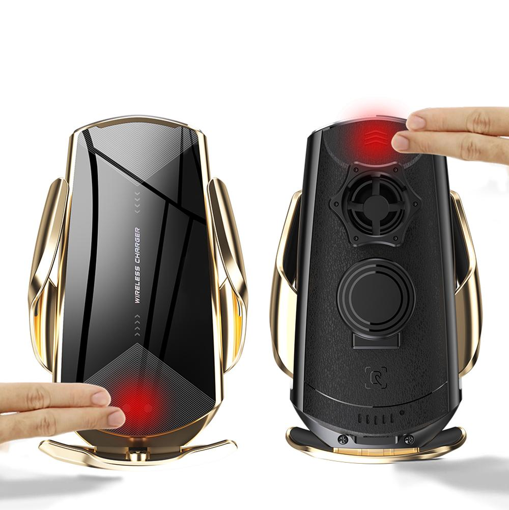 Q2 스마트 센서 자동차 무선 충전 QC3.0 홀더 QI 10W 빠른 충전기 휴대 전화 홀더 스탠드