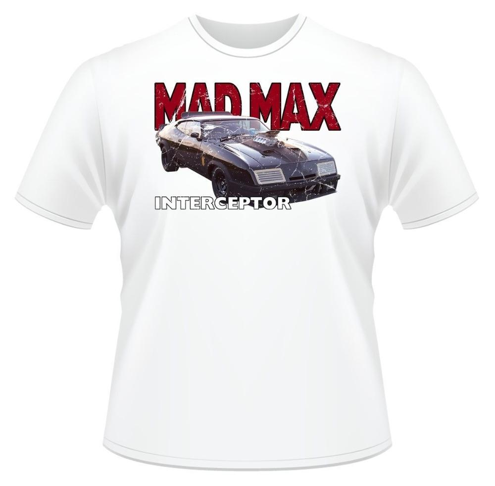 2019 New Casual Camiseta T-shirt Max Interceptor Ideal presente de aniversário de homens ou T-shirt de algodão Present