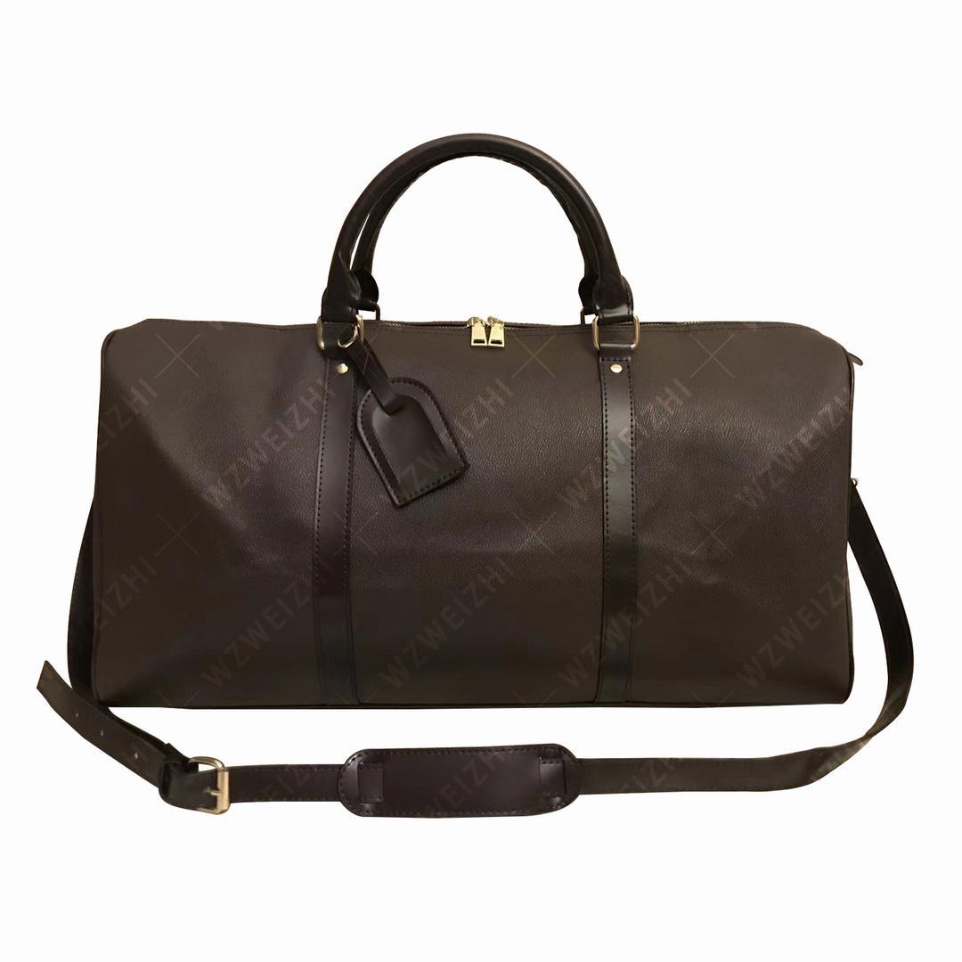 En Kaliteli Duffle Çanta Kadın Seyahat Çantası El Bagaj PU Deri Çanta Büyük Çapraz Vücut Kılıf 55 cm Sırt Çantası Bavul 5 Renkler