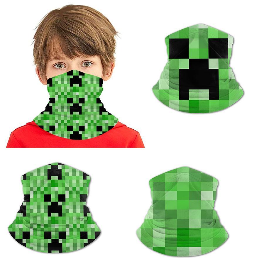 Minecraft Buz ipek önlük genç baskılı polyester amonyak bandanas yüz maskeleri bilek korumalar yaka saç bantlarında saç bandı korsan şapkaları masksed