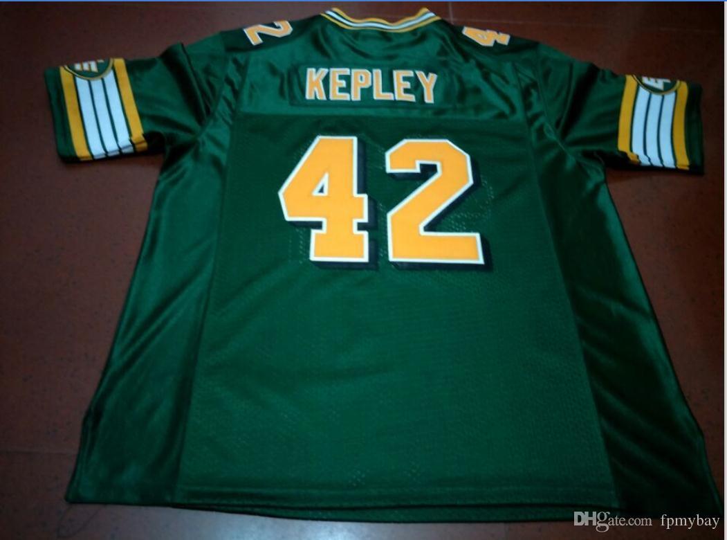 Benutzerdefinierte Männer Jugend Frauen Weinlese Edmonton Eskimos # 42 Dan Kepley Fußball-Jersey-Größe s-5XL oder benutzerdefinierten beliebigen Namen oder Nummer Jersey