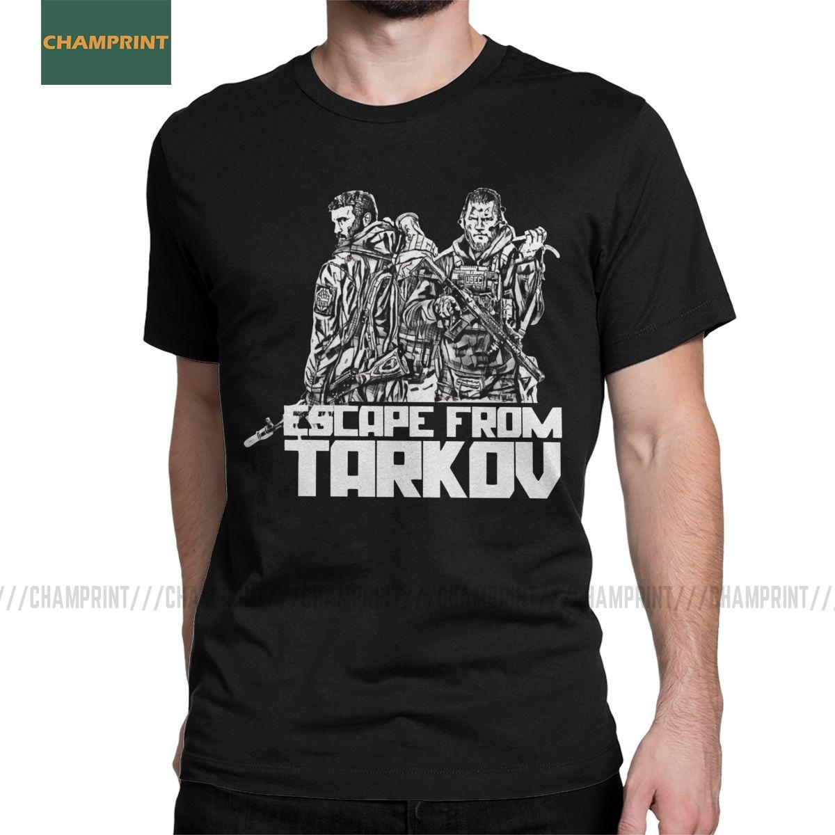 Hombres T-Shirts Escape From Tarkov oso contra Usec algodón de la camiseta de manga corta camisa tirador GG Batalla juego del juego T Shirts más el tamaño