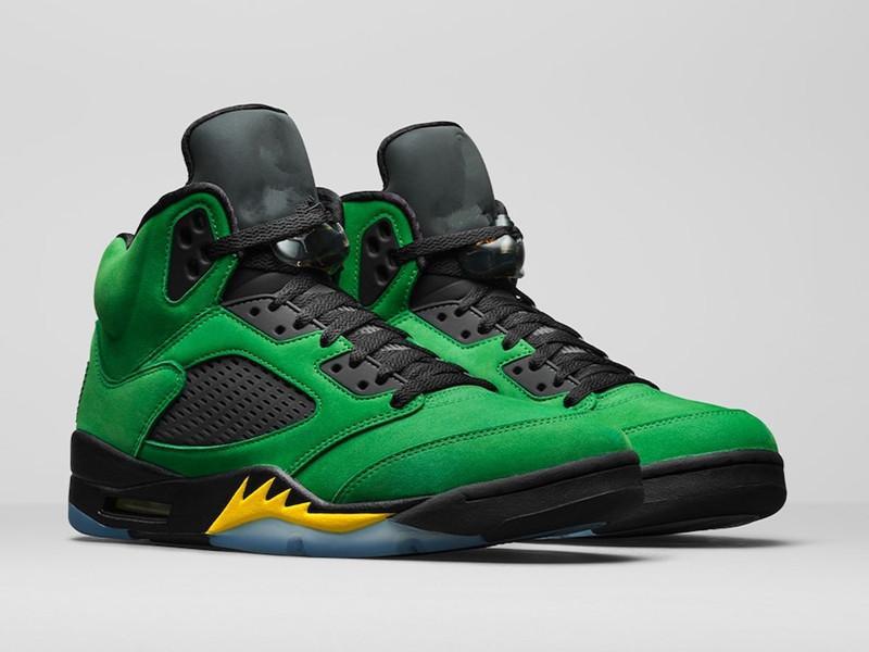 AJ 5 Oregon Apfel grüne Schuhe zum Verkauf mit Box 2020 Neue Männer Frauen Basketballschuhe Laden Großhandel US7-US13